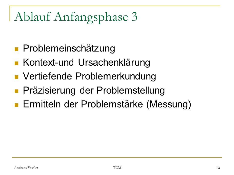 Ablauf Anfangsphase 3 Problemeinschätzung Kontext-und Ursachenklärung