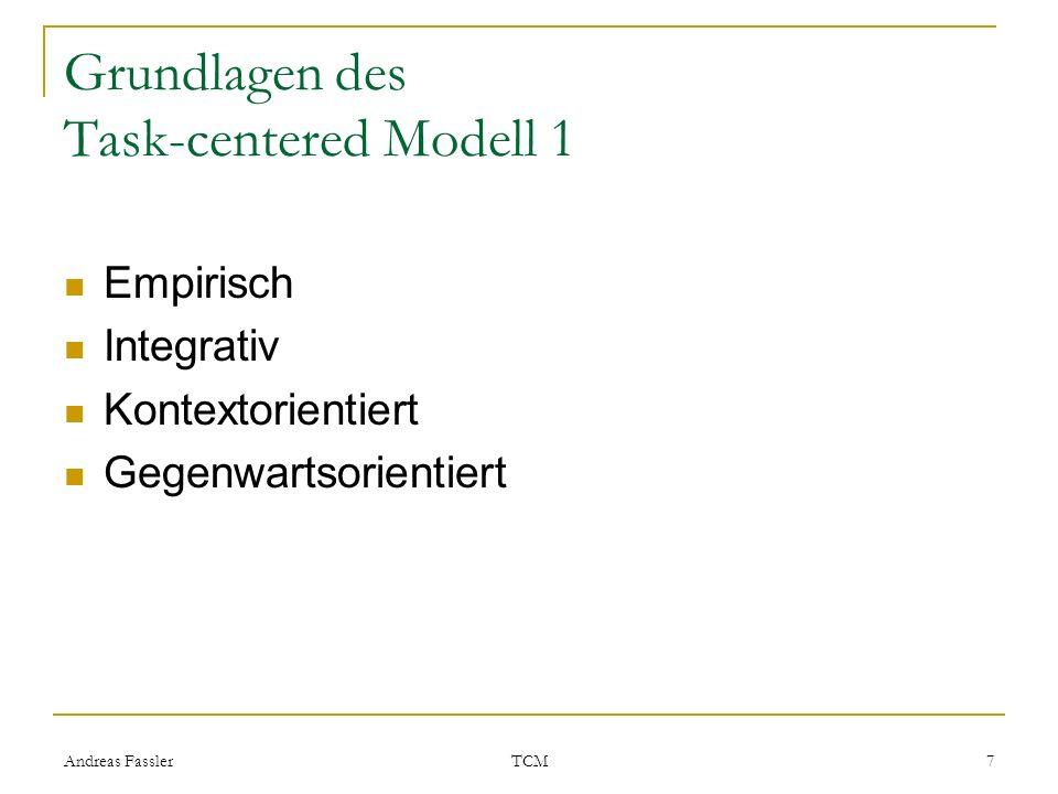 Grundlagen des Task-centered Modell 1