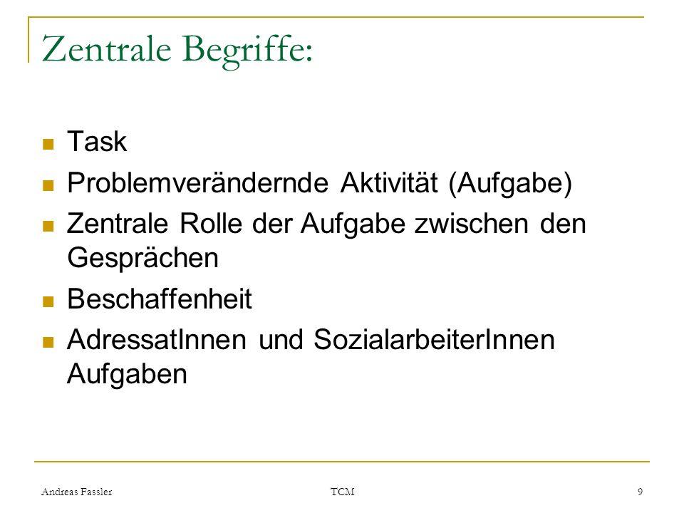 Zentrale Begriffe: Task Problemverändernde Aktivität (Aufgabe)