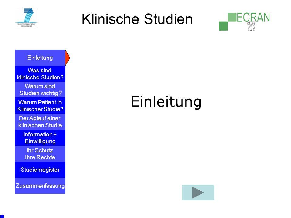 Klinische Studien Einleitung