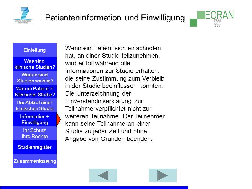 Patienteninformation und Einwilligung