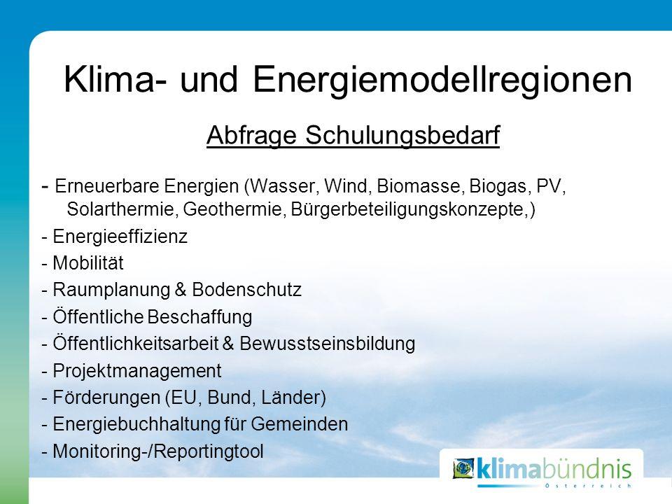 Klima- und Energiemodellregionen