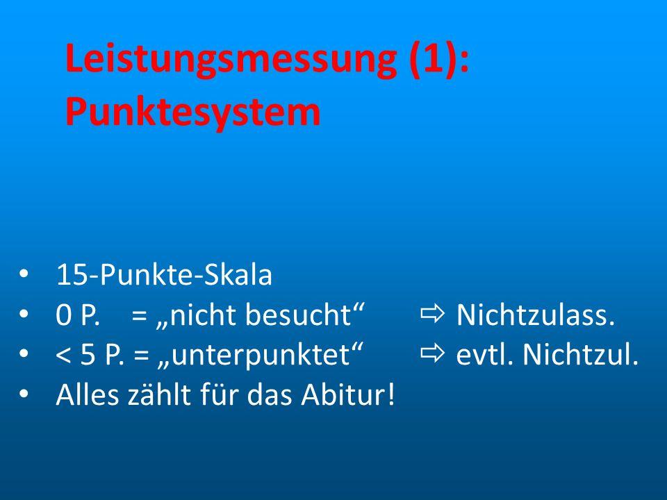 Leistungsmessung (1): Punktesystem
