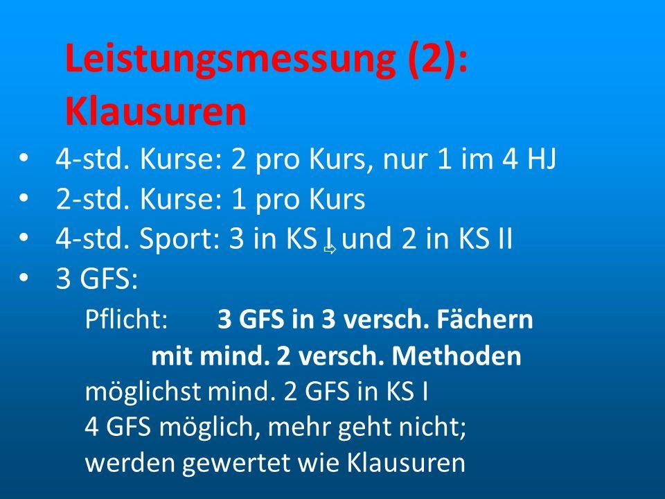 Leistungsmessung (2): Klausuren