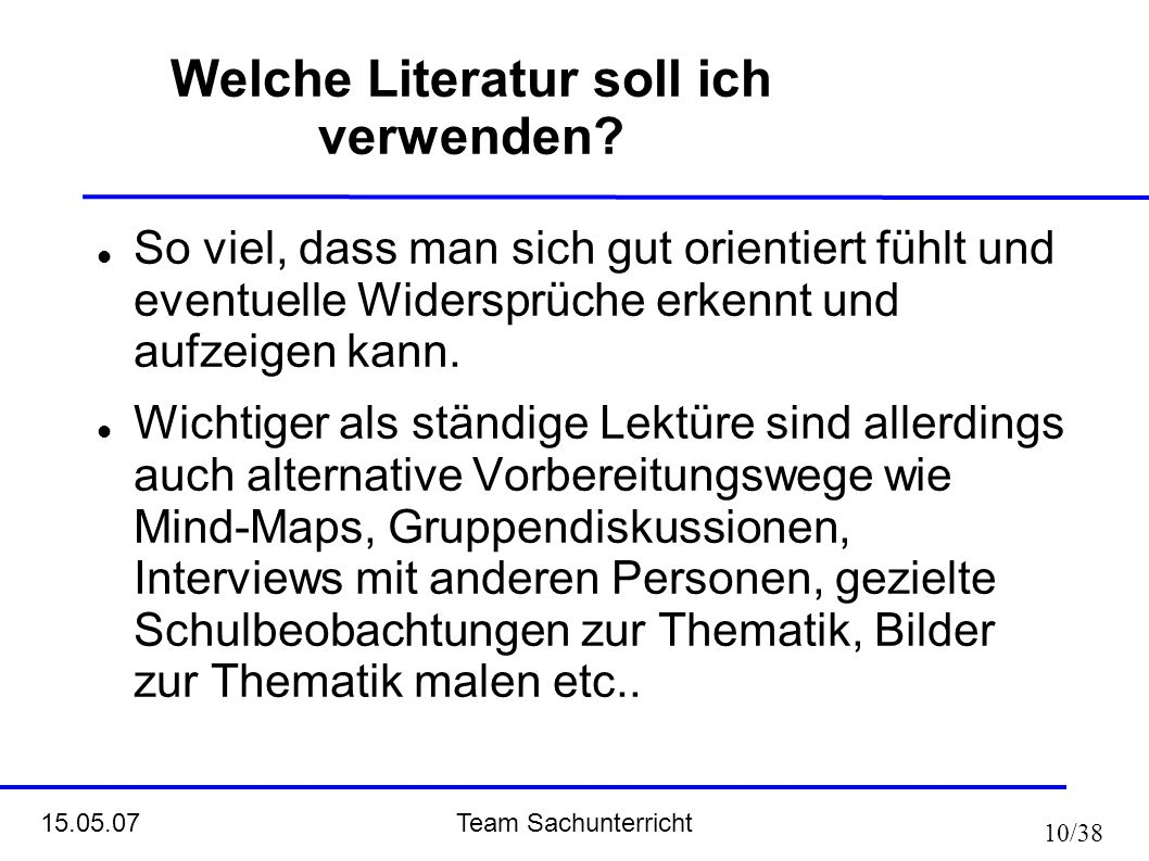 Welche Literatur soll ich verwenden