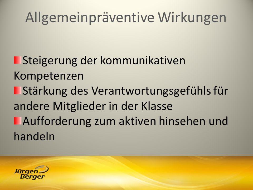 Allgemeinpräventive Wirkungen