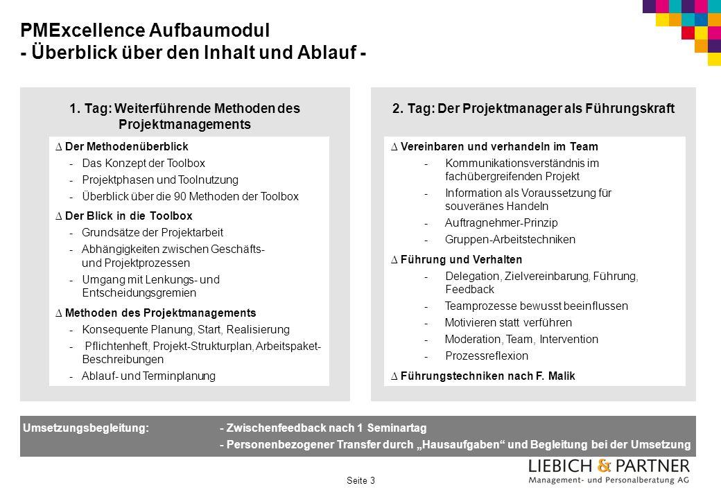 PMExcellence Aufbaumodul - Überblick über den Inhalt und Ablauf -