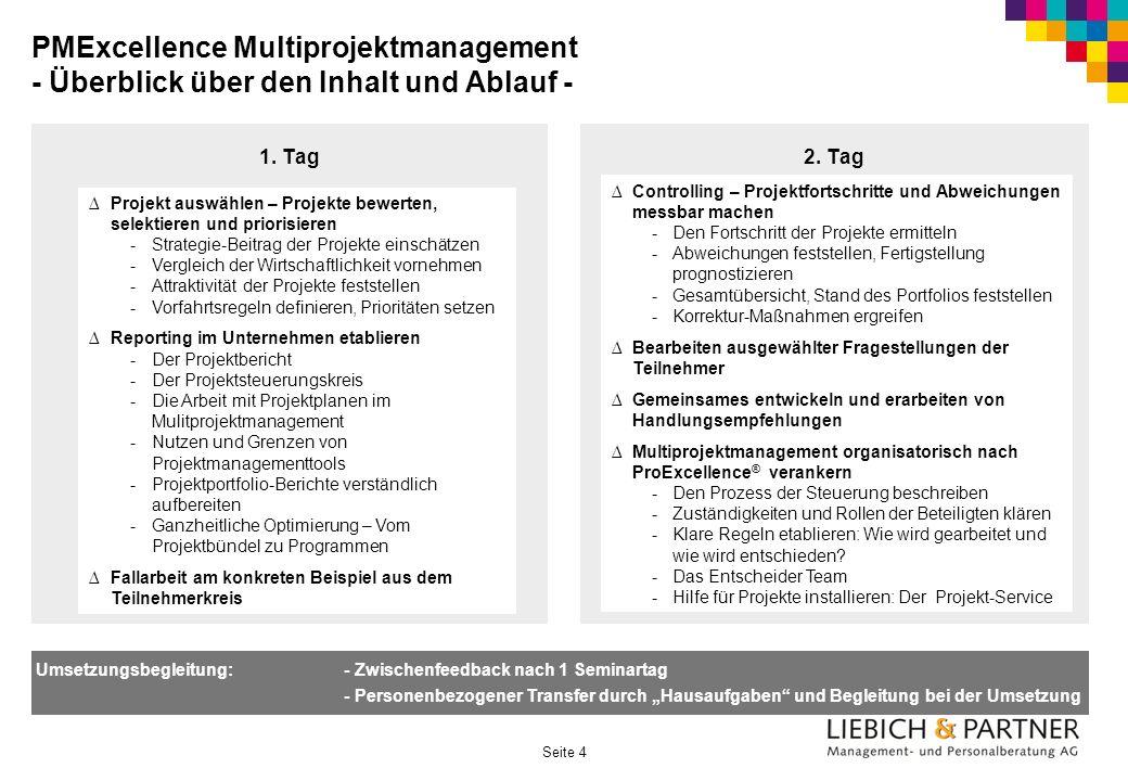 PMExcellence Multiprojektmanagement - Überblick über den Inhalt und Ablauf -