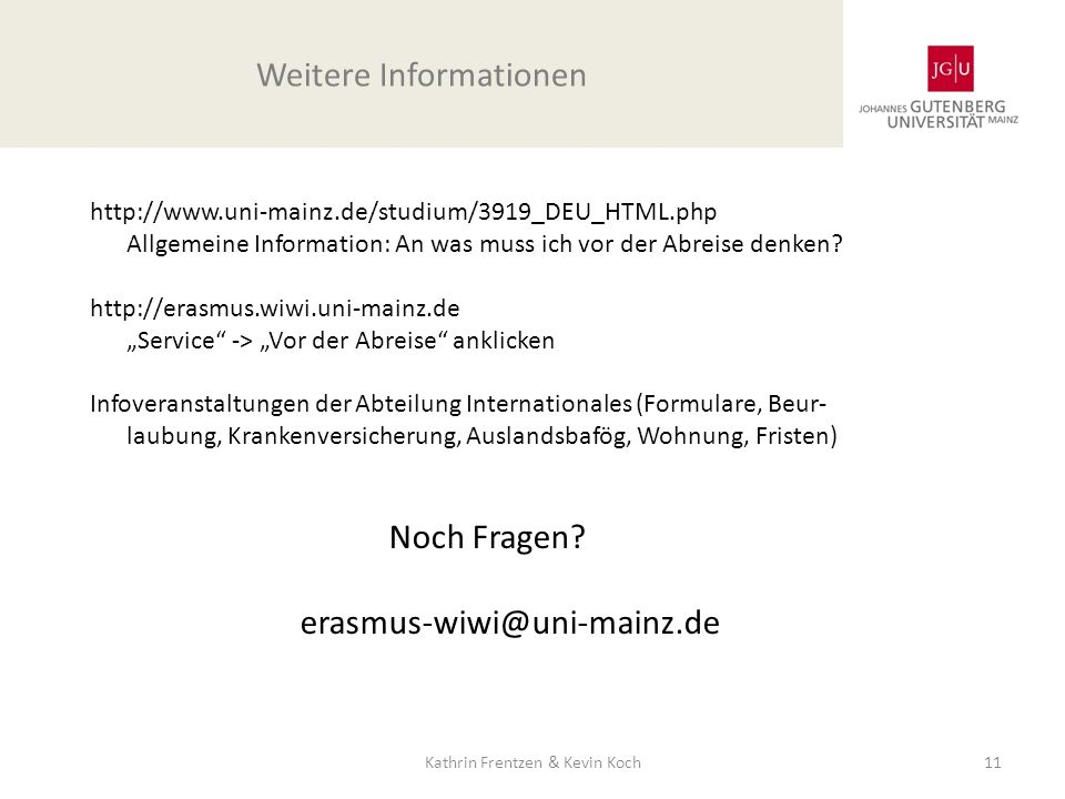 Weitere Informationen