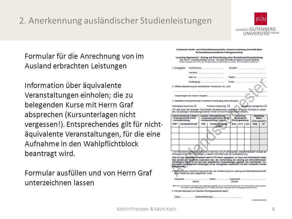 2. Anerkennung ausländischer Studienleistungen