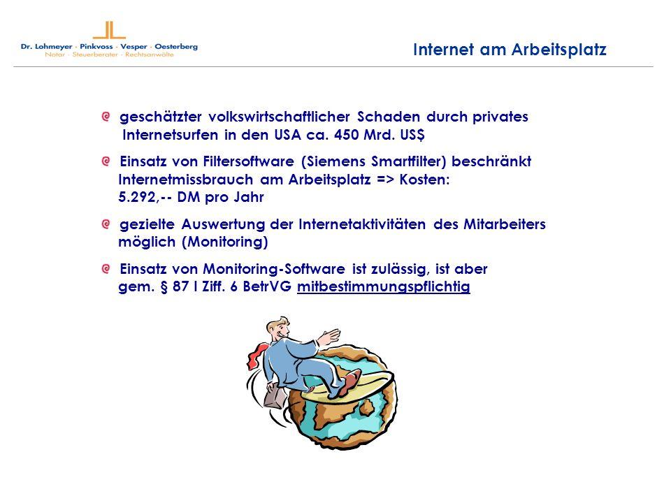 Internet am Arbeitsplatz