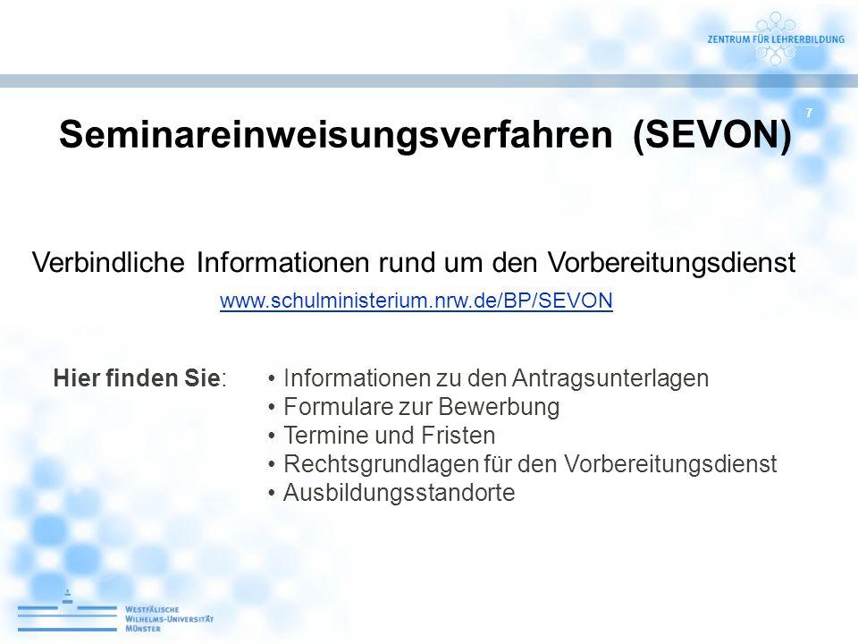 Seminareinweisungsverfahren (SEVON)