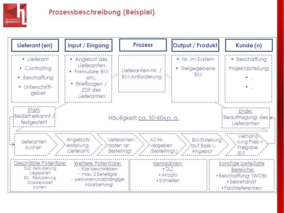 Prozessbeschreibung (Beispiel)
