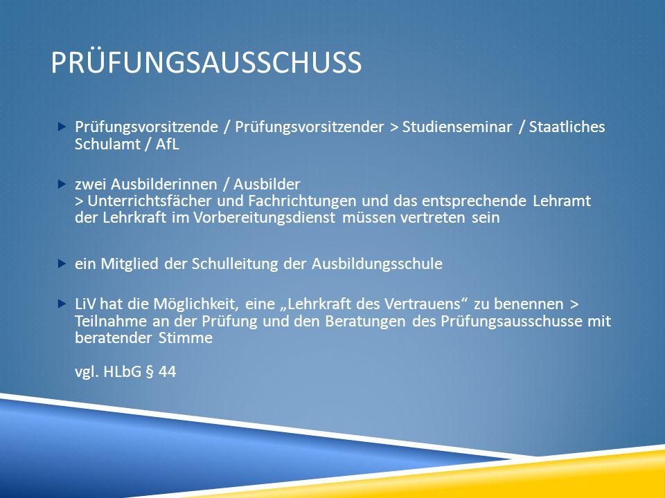 Prüfungsausschuss Prüfungsvorsitzende / Prüfungsvorsitzender > Studienseminar / Staatliches Schulamt / AfL.