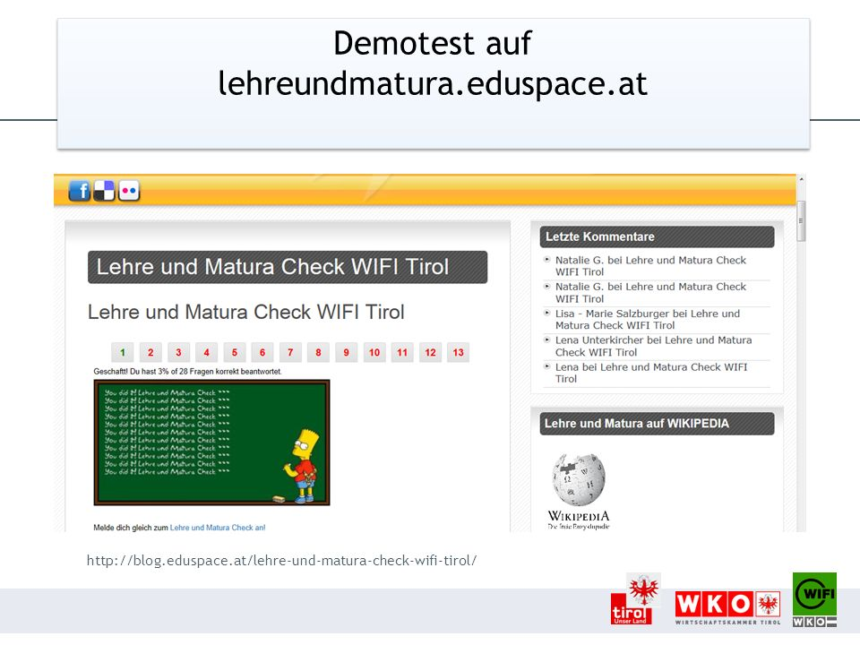 Demotest auf lehreundmatura.eduspace.at