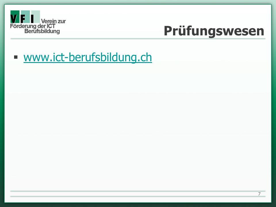Prüfungswesen www.ict-berufsbildung.ch