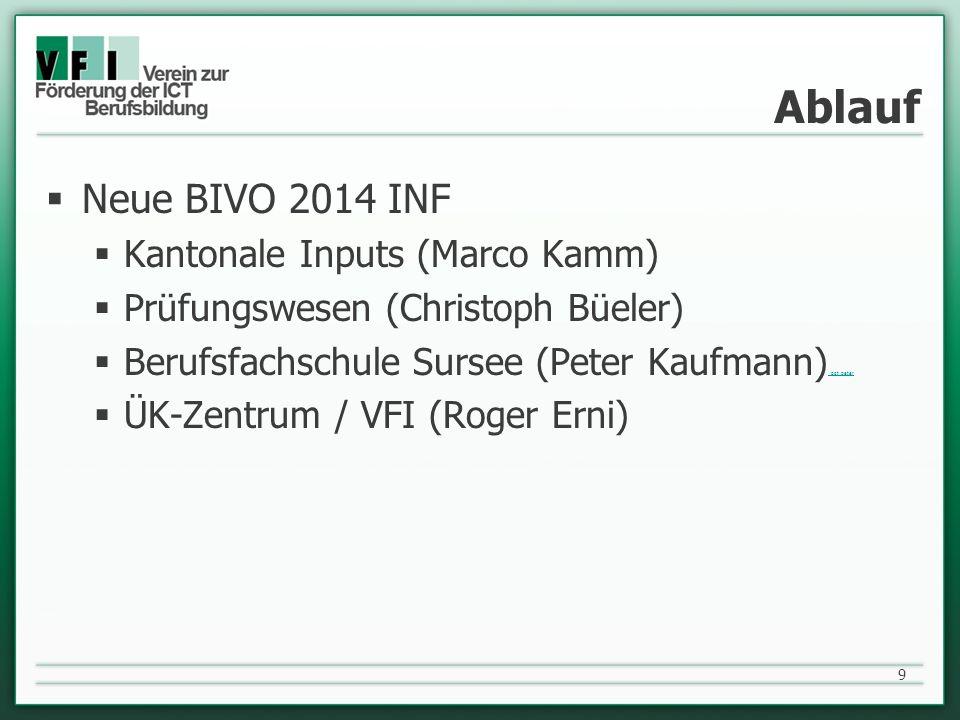 Ablauf Neue BIVO 2014 INF Kantonale Inputs (Marco Kamm)