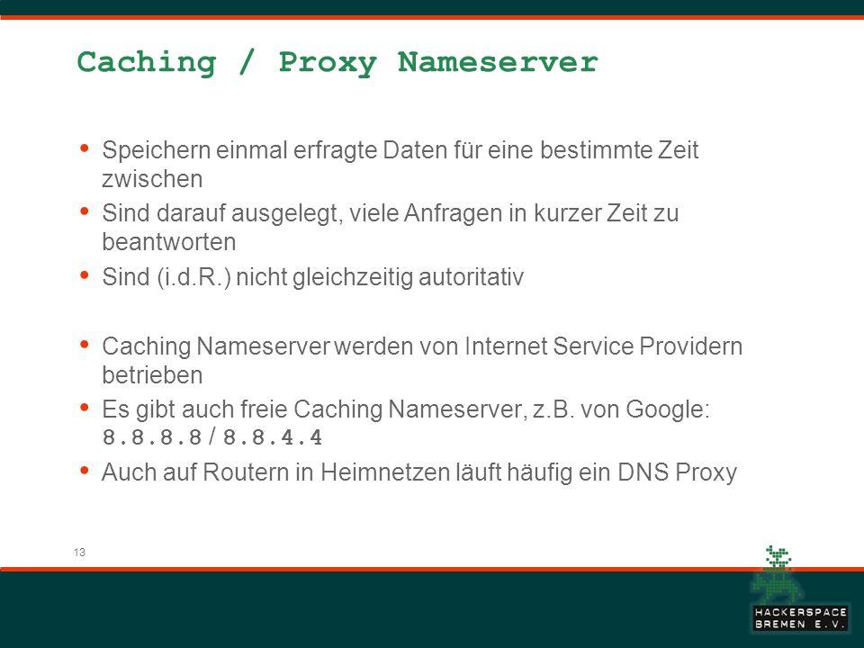 Caching / Proxy Nameserver