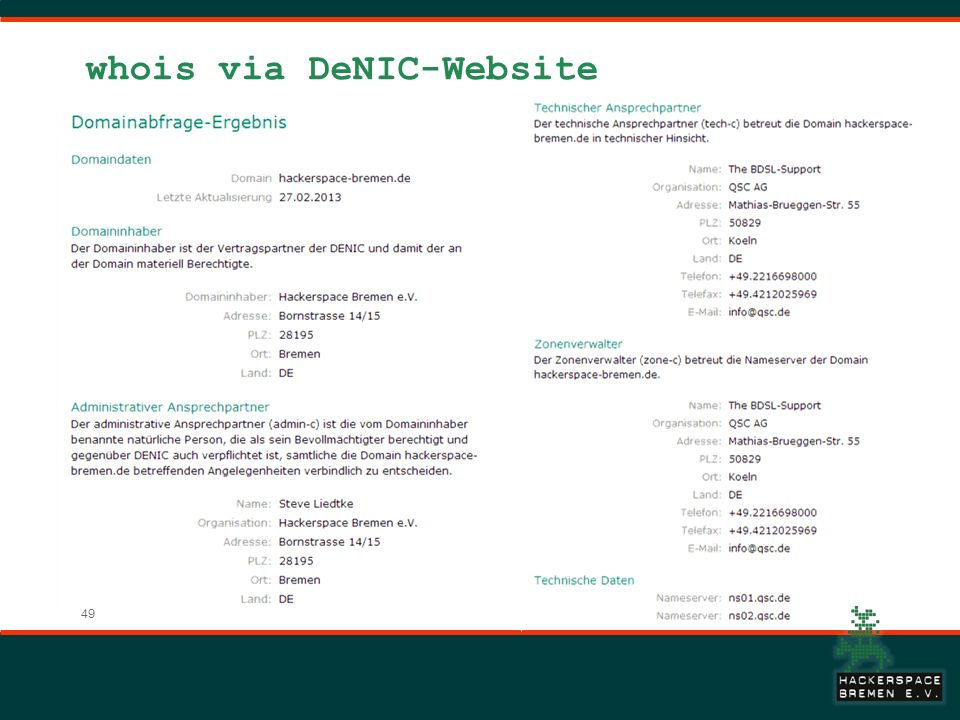 whois via DeNIC-Website