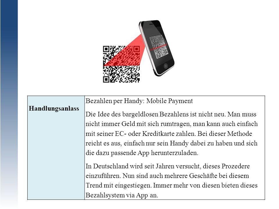 Bezahlen per Handy: Mobile Payment