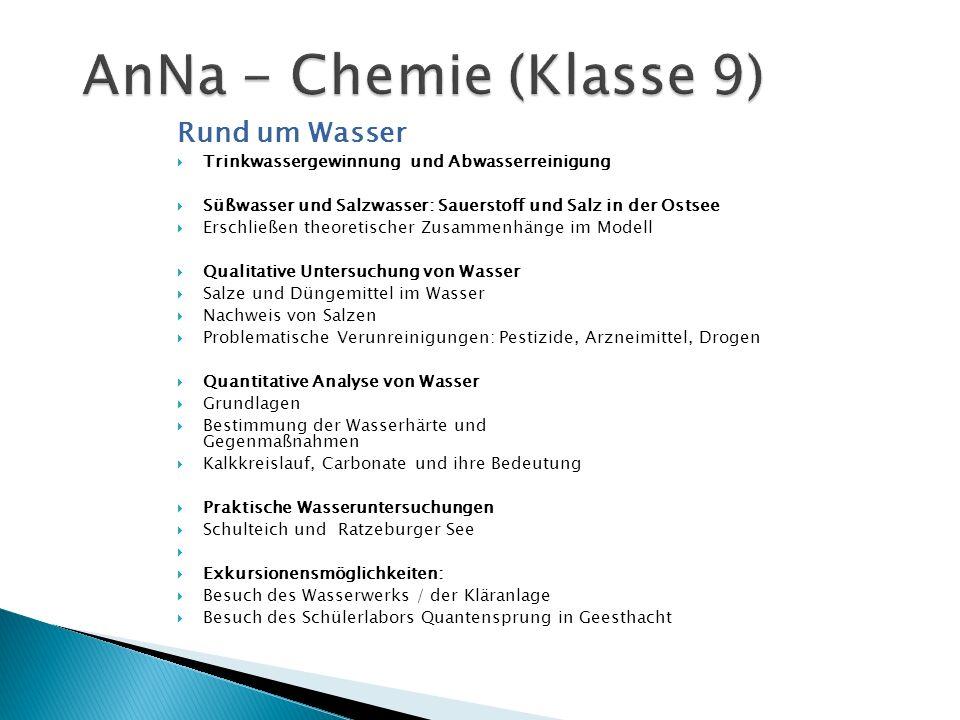 AnNa - Chemie (Klasse 9) Rund um Wasser