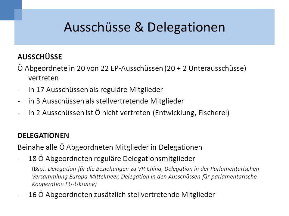 Ausschüsse & Delegationen