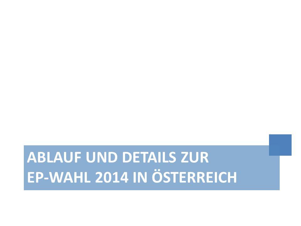 Ablauf und Details zur EP-Wahl 2014 in Österreich