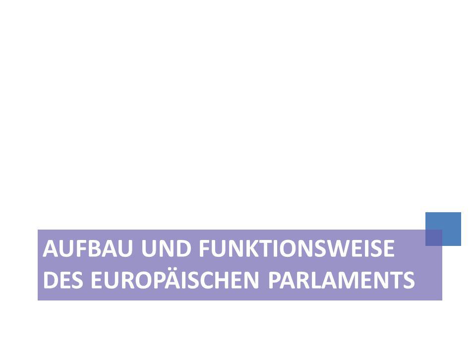 Aufbau und Funktionsweise des Europäischen Parlaments