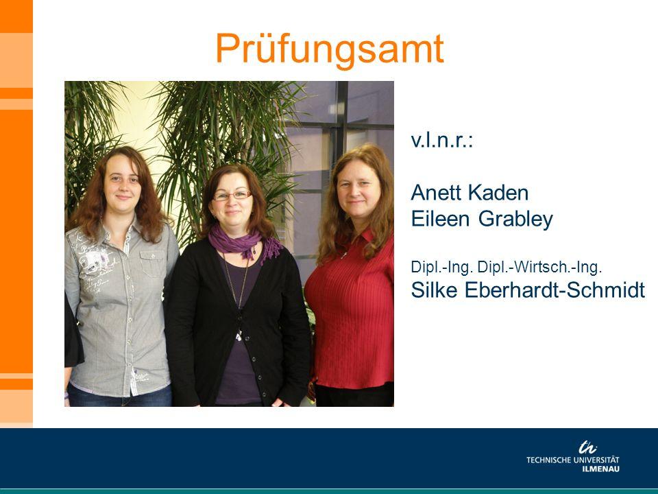 Prüfungsamt v.l.n.r.: Anett Kaden Eileen Grabley