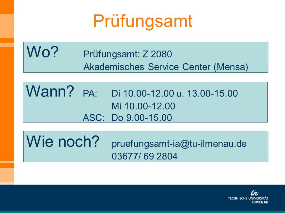 Prüfungsamt Wo Prüfungsamt: Z 2080