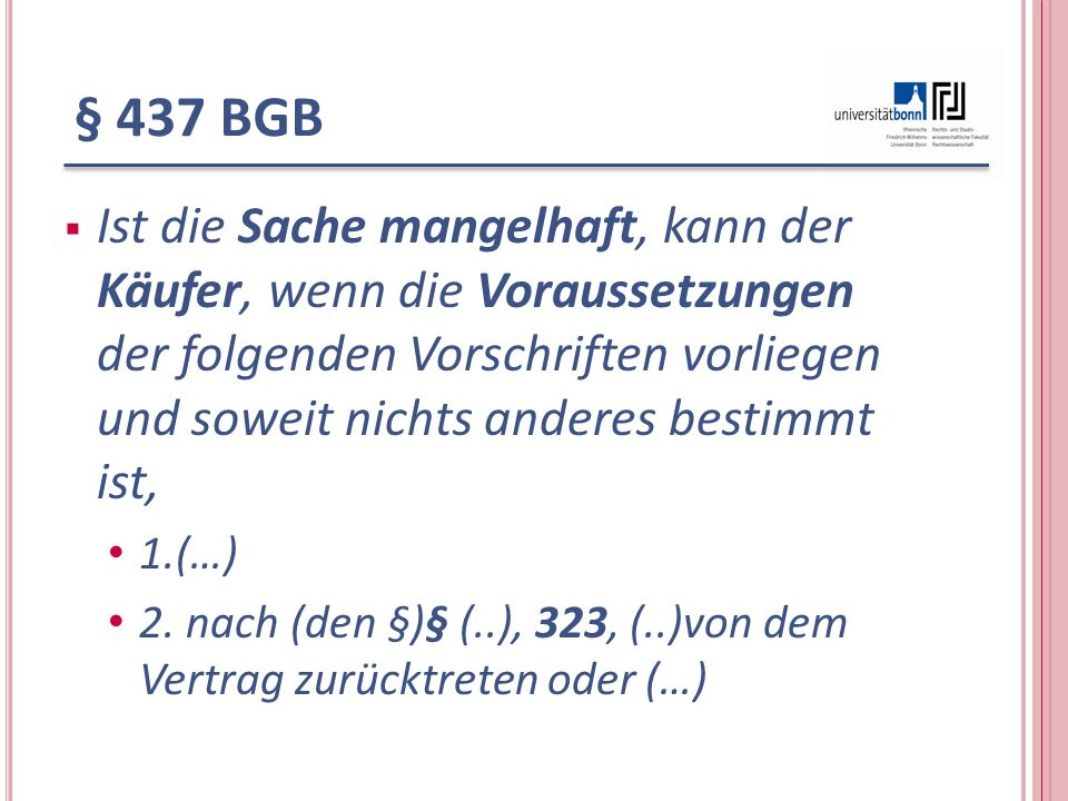 § 437 BGB