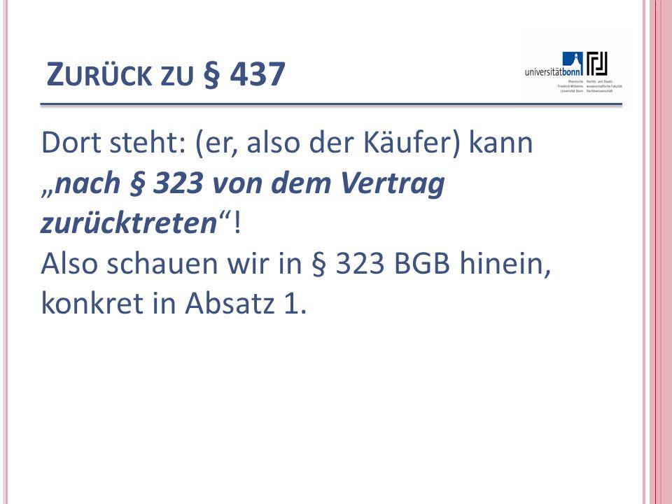 Zurück zu § 437