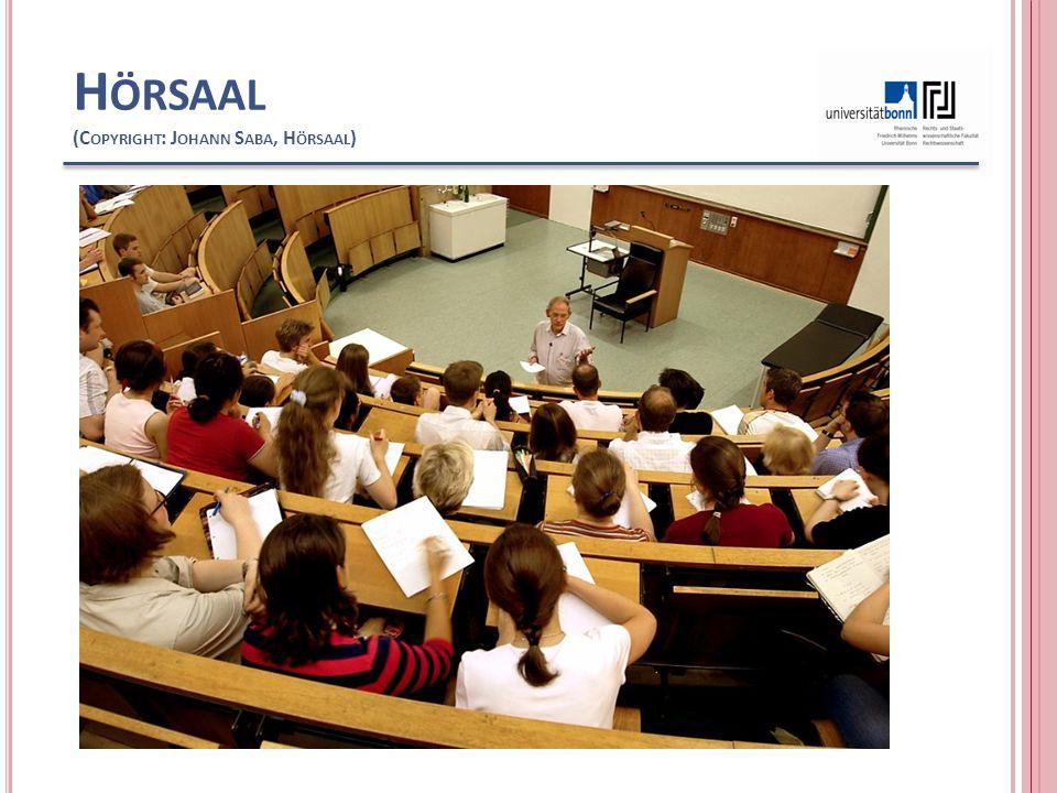 Hörsaal (Copyright: Johann Saba, Hörsaal)