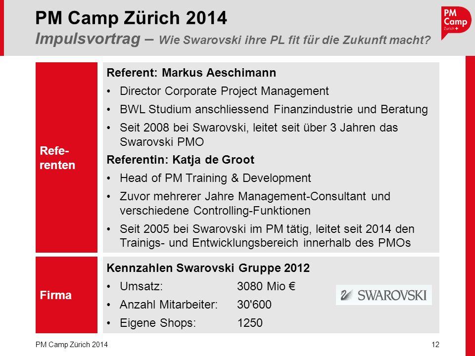 PM Camp Zürich 2014 Impulsvortrag – Wie Swarovski ihre PL fit für die Zukunft macht