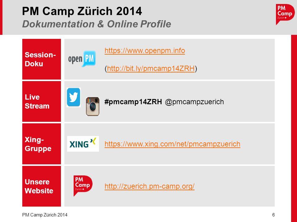PM Camp Zürich 2014 Dokumentation & Online Profile