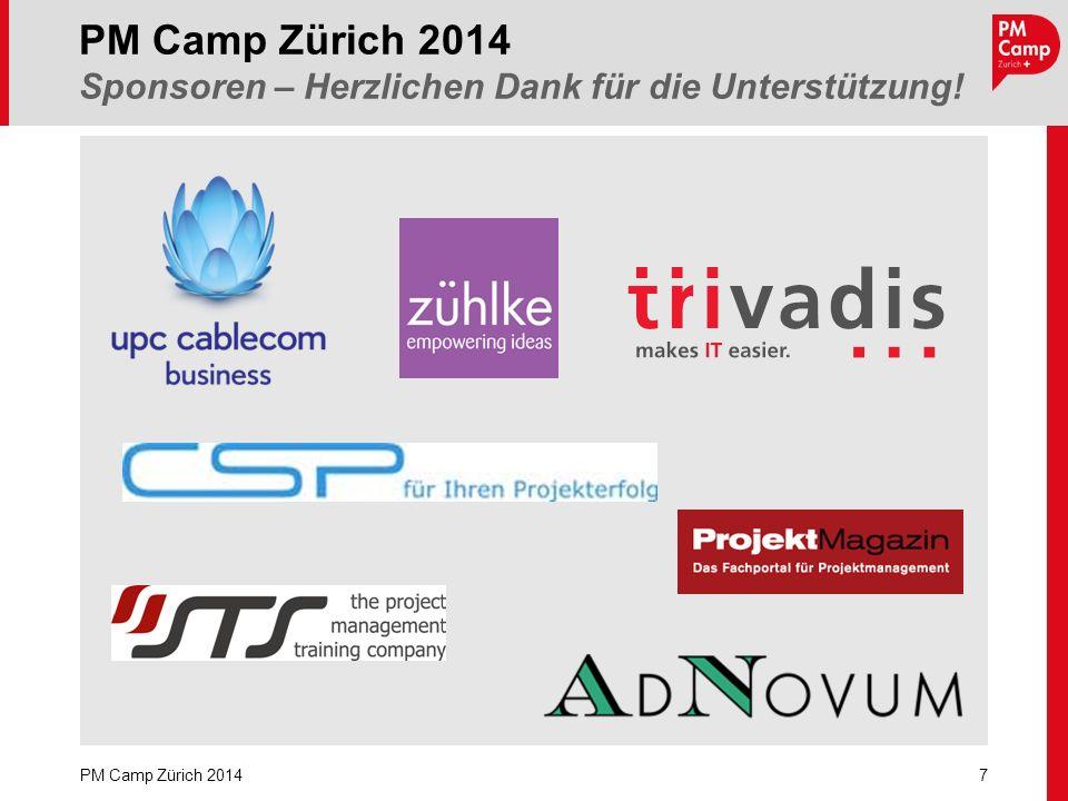 PM Camp Zürich 2014 Sponsoren – Herzlichen Dank für die Unterstützung!