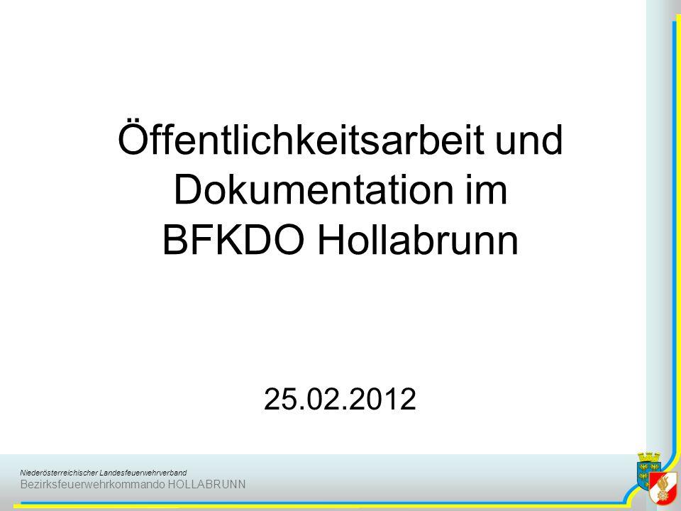 Öffentlichkeitsarbeit und Dokumentation im BFKDO Hollabrunn