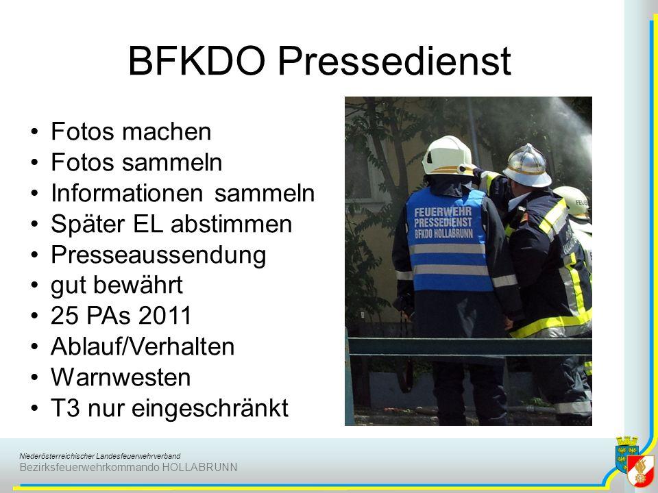 BFKDO Pressedienst Fotos machen Fotos sammeln Informationen sammeln