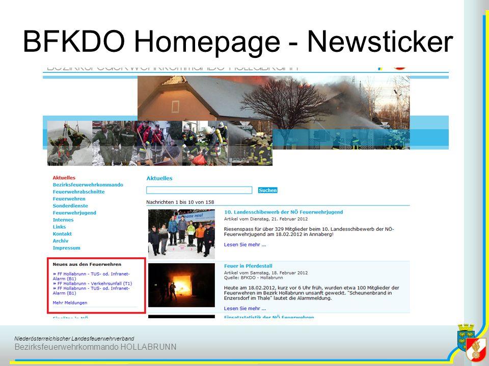 BFKDO Homepage - Newsticker