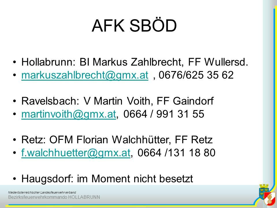 AFK SBÖD Hollabrunn: BI Markus Zahlbrecht, FF Wullersd.