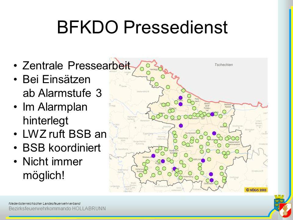 BFKDO Pressedienst Zentrale Pressearbeit Bei Einsätzen ab Alarmstufe 3