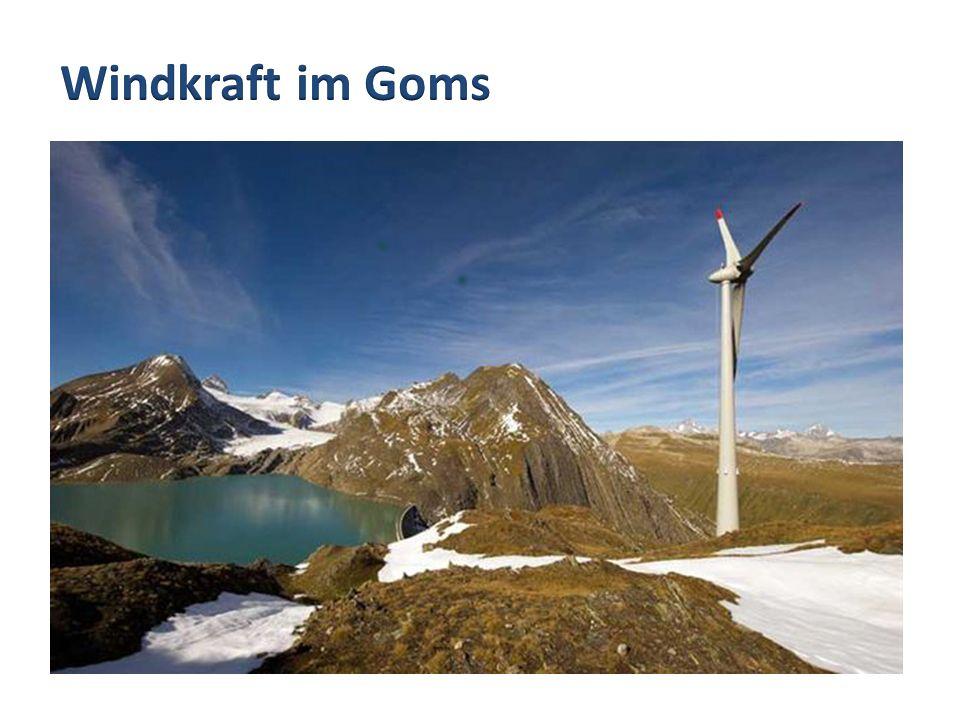 Windkraft im Goms Windkraftanlage Gries, Ulrichen