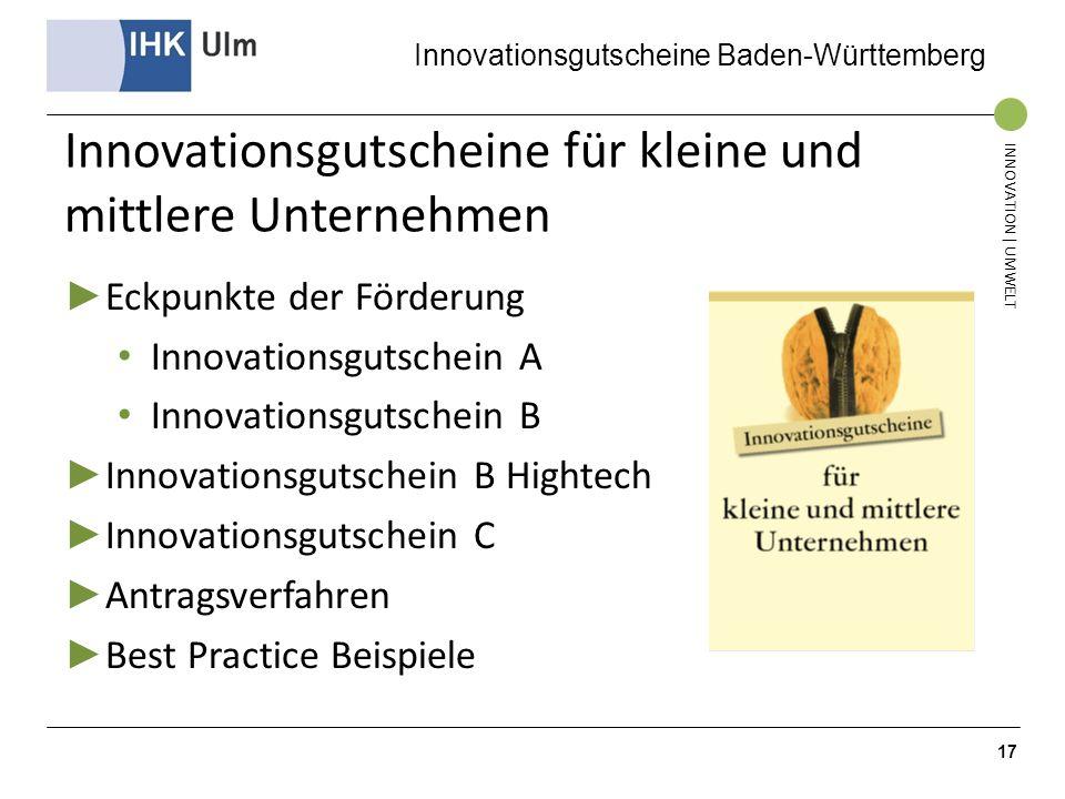Innovationsgutscheine für kleine und mittlere Unternehmen