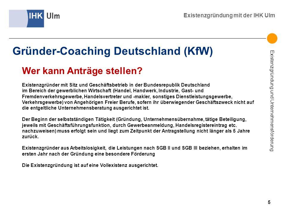 Gründer-Coaching Deutschland (KfW)