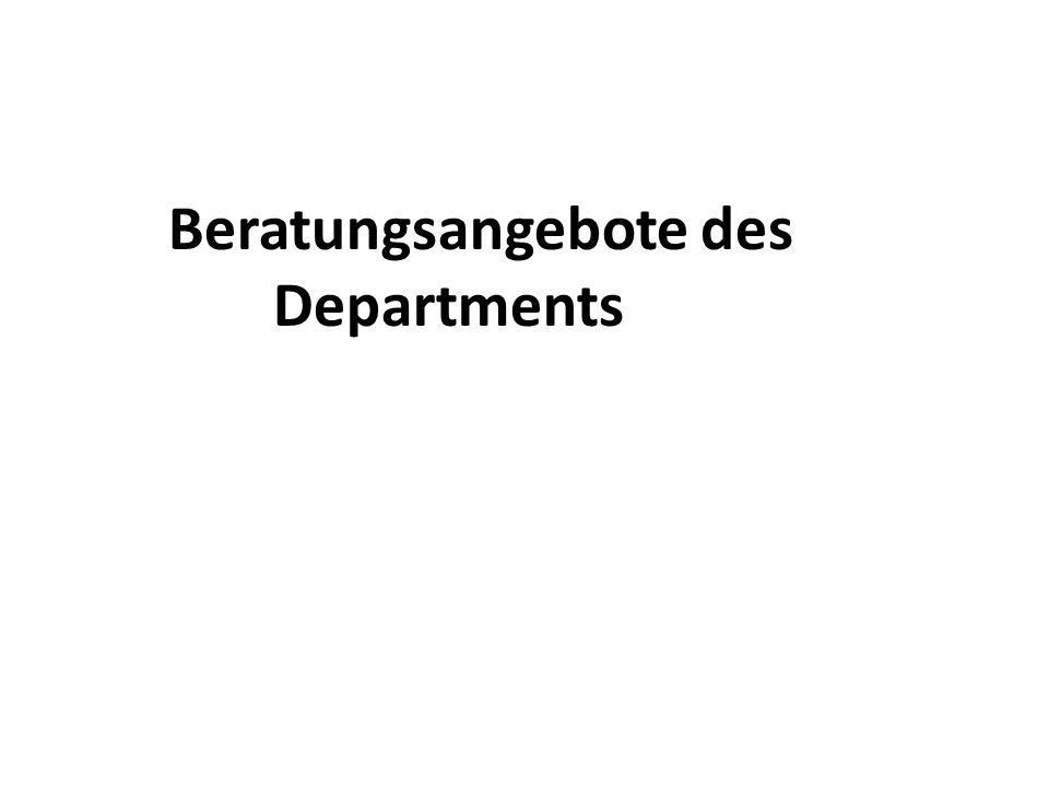 Beratungsangebote des Departments