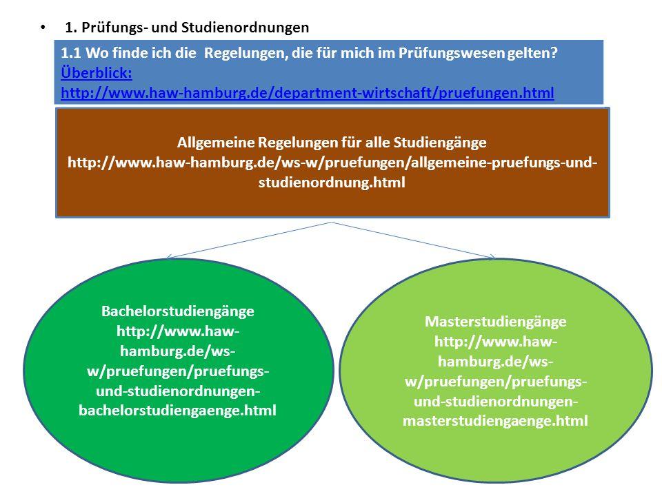 Allgemeine Regelungen für alle Studiengänge Bachelorstudiengänge