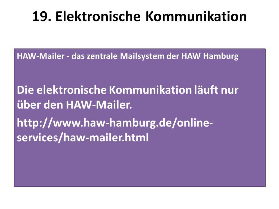 19. Elektronische Kommunikation