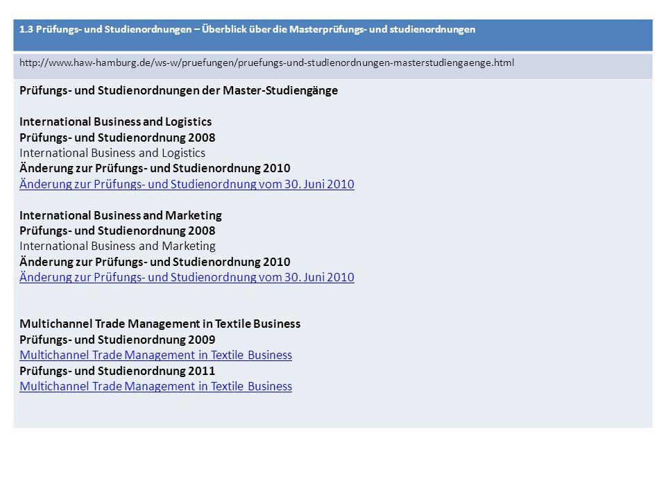 Prüfungs- und Studienordnungen der Master-Studiengänge