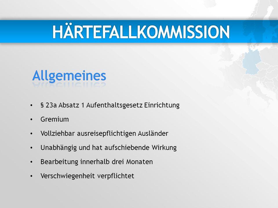HÄRTEFALLKOMMISSION Allgemeines