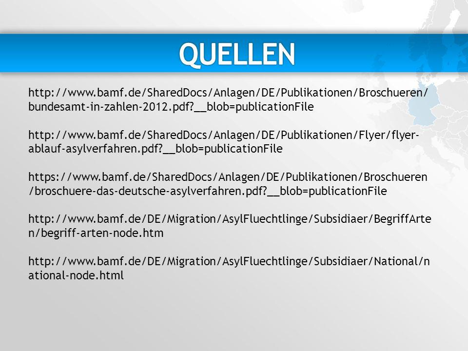 QUELLEN http://www.bamf.de/SharedDocs/Anlagen/DE/Publikationen/Broschueren/bundesamt-in-zahlen-2012.pdf __blob=publicationFile.